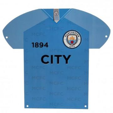 Manchester City Metal Shirt Sign